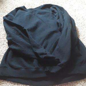 Thick black sweatshirt